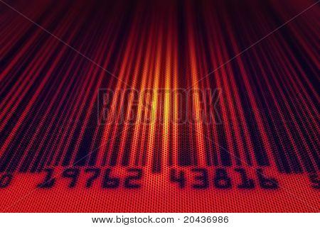 Abstrakte Barcode scannt Rückleuchte - 3d Render mit gepunkteten design