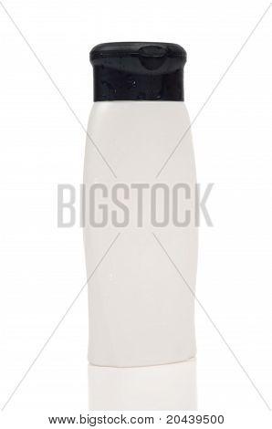 Botella de Shampoo blanco