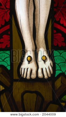 Jesus' Feet On The Cross