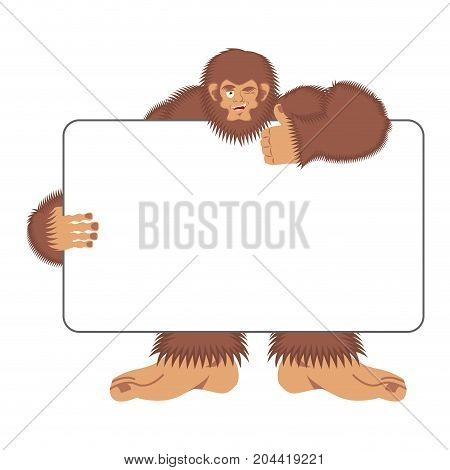 Bigfoot Holding Banner Blank Yeti
