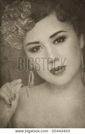 Vintage Asian Woman