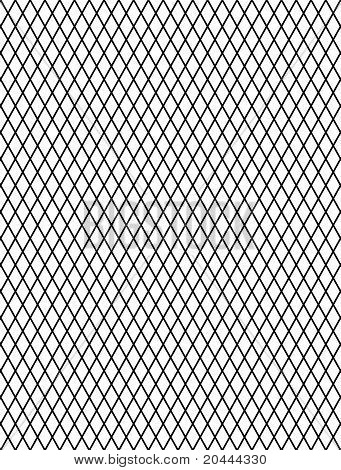 Decorative rhomboid grid