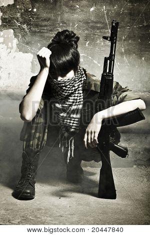 The Armed Arabian Woman Terrorist