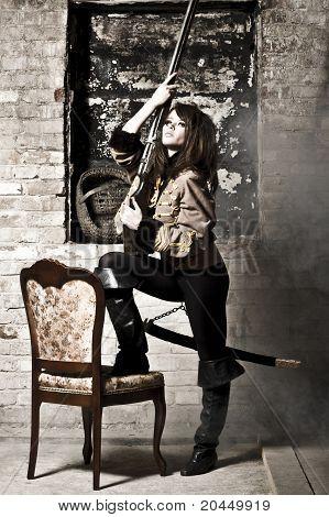 Portrait Woman Of Soldier
