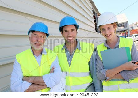 Work team on building site
