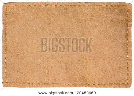 Light Blank Natural Leather Jeans Tag Label Isolated