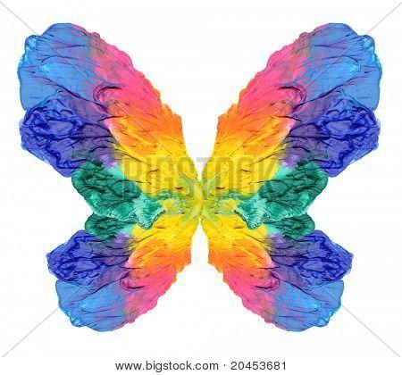 Постер, плакат: Абстрактная живопись бабочки, холст на подрамнике