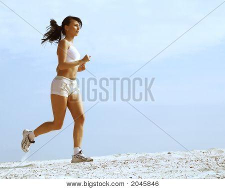 Beautiful Girl  Running