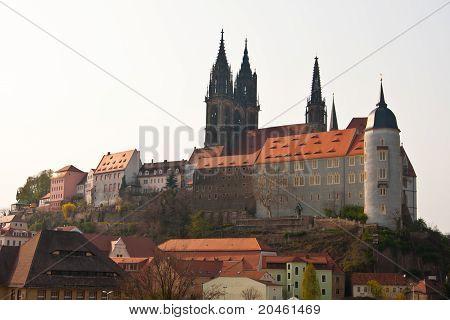 Castle Hill Of Meissen In Germany
