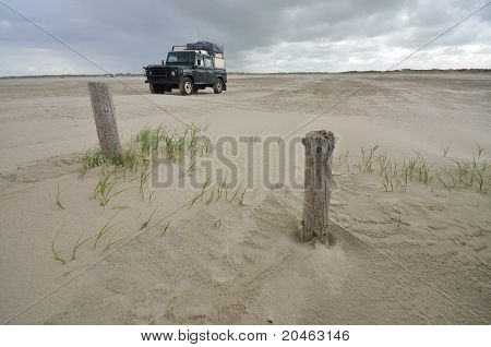 Four Wheel Drive At The Beach