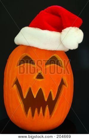 Santa Jack O Lantern