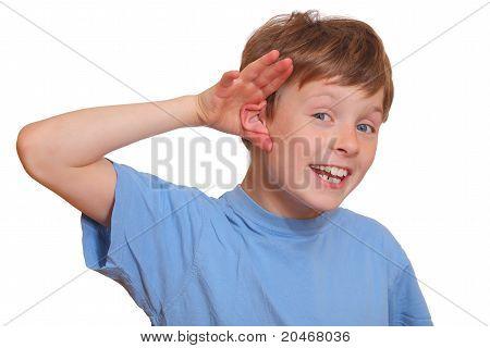 Escuchando muchacho