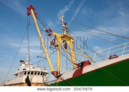 Profile Of A Big Dutch Iron Fishing Cutter