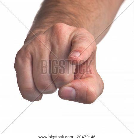 Man's Pointing Finger