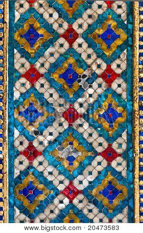Thai Pattern Tile Wall