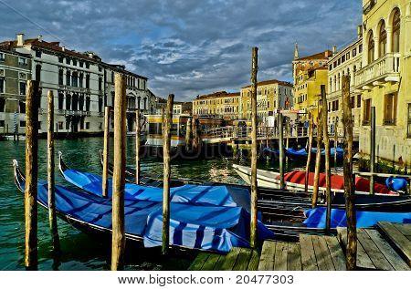 Venice gondola sunrise