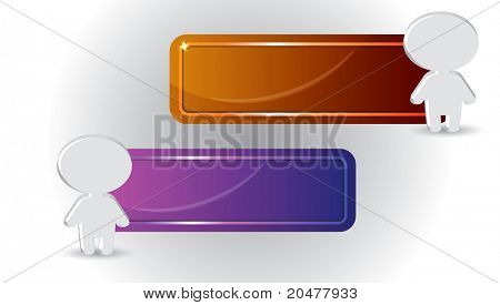 La bandera con el icono de la persona