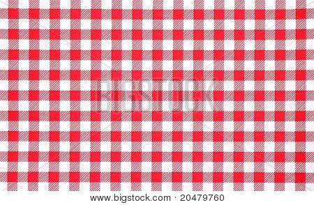 Close View Of Red Checkerboard Tablecloth