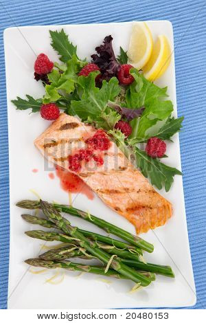 Grilled Raspberry Salmon
