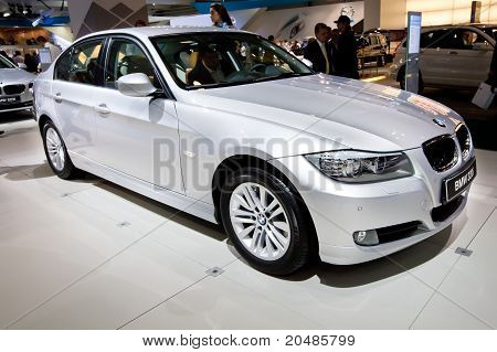 Moscow,moscow, Russia - August 25:  Grey Car Bmw 320 At Moscow International Exhibition Interauto On