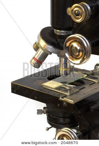 Detail Of Old Microscope