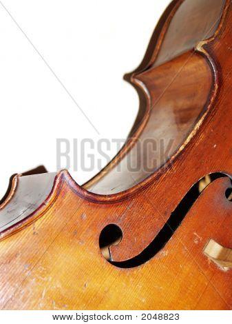 Violoncello On A White