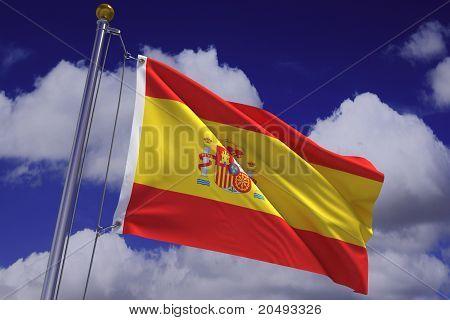 Waving Spanish Flag