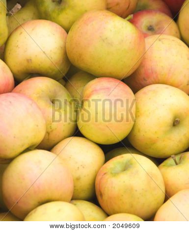Yellow Apples At A Market.