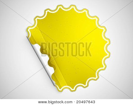 Yellow Round Hamous Sticker Or Label