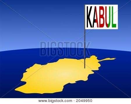 Kabul On Afghan Map