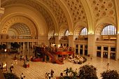 picture of amtrak  - Early morning at Union Station in Washington DC - JPG