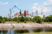 foto of radium  - Chernobyl atomic nuclear power station in Ukraine - JPG