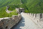 stock photo of qin dynasty  - Great Wall of China at Mutianyu  - JPG