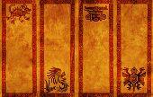 Постер, плакат: Вертикальные баннеры с традиционной модели американских индейцев