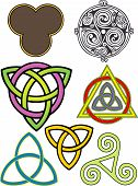 foto of triquetra  - various three fold symbols with spiritual meanings - JPG