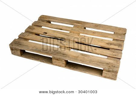 Old dirty wooden pallet