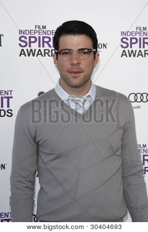 SANTA MONICA, CA - FEB 25: Zachary Quinto at the 2012 Film Independent Spirit Awards on February 25, 2012 in Santa Monica, California