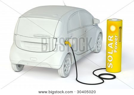 Battery Petrol Station - Solar Power Fuels An E-car