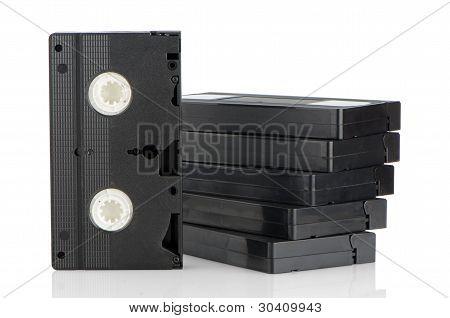 Haufen von Videobändern