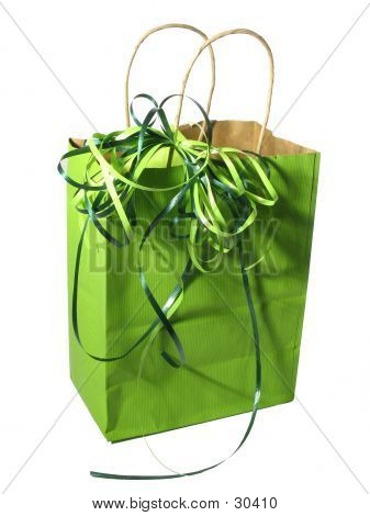 Bolsa de regalo verde