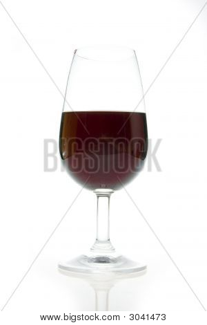 Wineglass And A Bottle