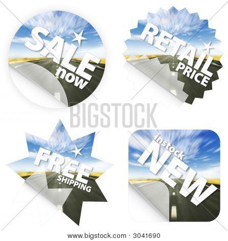 Idyllic Road Stickers
