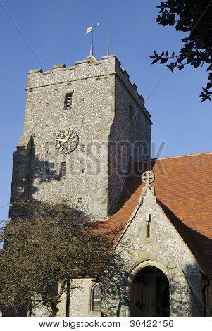 Iglesia en Burpham. Sussex. Inglaterra
