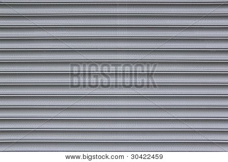 Perforated Metal Security Shutter Background