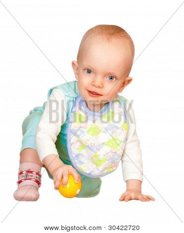 Little baby with ball