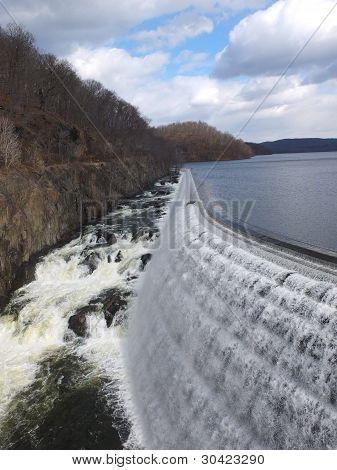 Manmade Waterfall at dam