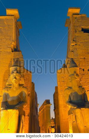 Luxor Temple At Night.(egypt)
