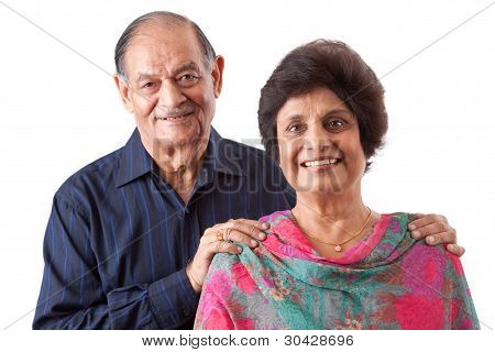 East Indian Elderly Woman With Her Husband