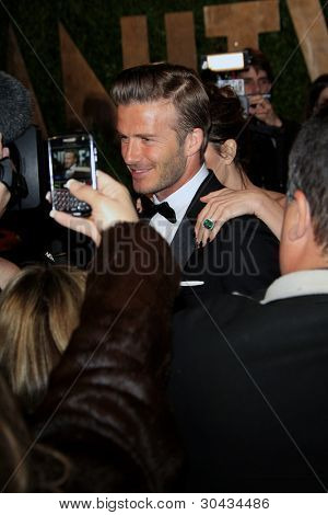 WEST HOLLYWOOD, CA - FEB 26: David Beckham at the Vanity Fair Oscar Party at Sunset Tower on February 26, 2012 in West Hollywood, California.
