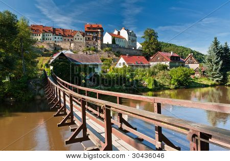 Pendant bridge, Loket, Czech Republic